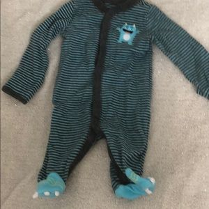 Carter's footed monster outfit w/ monster feet